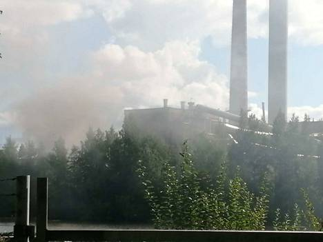 Palo savutti alkuvaiheessa runsaasti.