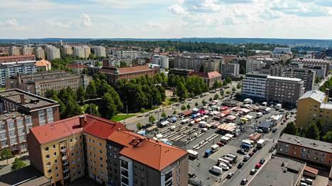 Myynnissä oleva asunto sijaitsee Tampereen Tammelassa. Kuva on otettu 13. heinäkuuta 2018.