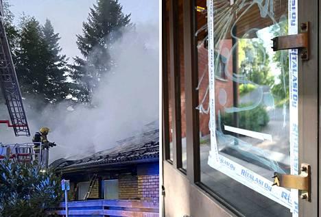Omakotitalo tuhoutui tulipalossa täysin Tampereen Tesomalla perjantain ja lauantain välisenä yönä. Myös Tesoman kirkko oli yritetty polttaa.