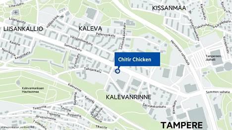 Chitir Chicken -ketju avaa pian uuden ravintolan Tampereen Kalevan Sammonkadulle.