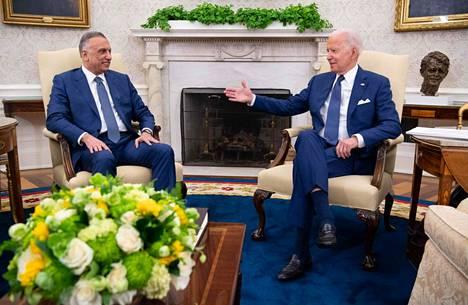 Yhdysvaltain presidentti Joe Biden tapasi Irakin pääministerin Mustafa al-Kadhimin Washingtonissa maanantaina paikallista aikaa.