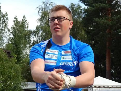 Aaron Kangas nousi Suomen kaikkien aikojen moukaritilaston kakkoseksi.