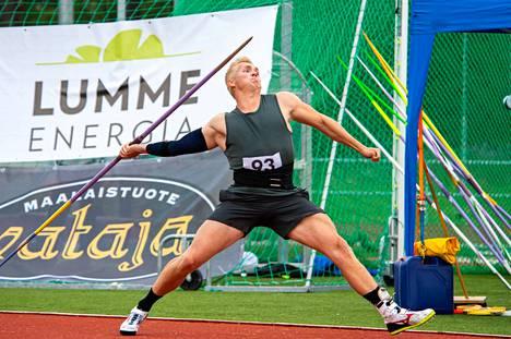 Toni Kuusela Kankaanpäässä heinäkuussa 2020.