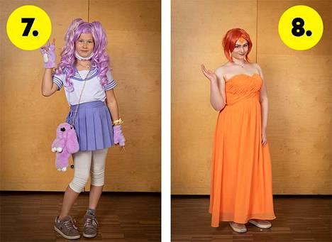 7. Miltsi / itse luotu hahmo. //  8. Flame Princess sarjasta Adventure Time