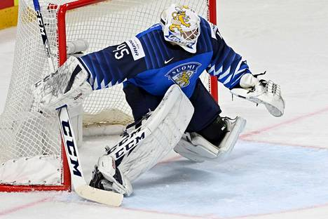 Jussi Olkinuora joutui koville, mutta hän johdatti Leijonat MM-finaaliin.