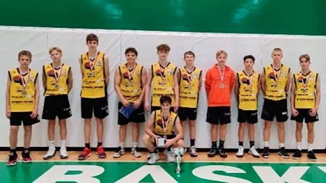 BC Nokian nuoret menestyivät upeasti Tallink-turnauksessa Espoossa. Kuvassa vuonna 2007 syntyneiden poikien kutsusarjan voittanut joukkue.