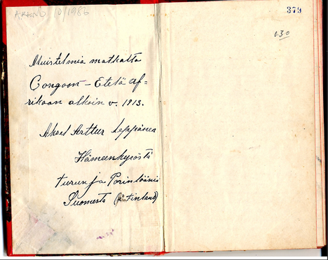 Akseli Leppänen kirjoitti päiväkirjojaan Kongosta vuodesta 1913 aina vuoteen 1921 saakka. Päiväkirjojen perusteella myös Kongoon matkustaneet suomalaiset syyllistyivät raakuuksiin paikallisväestöä kohtaan.