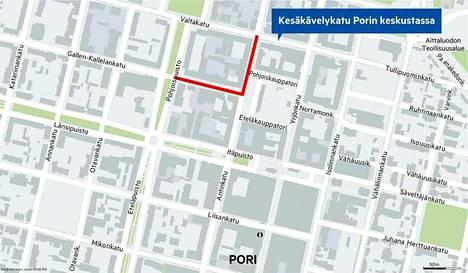 Gallen-Kallelankadun ja Antinkadun katuosuudet avataan autoille ensi viikolla.