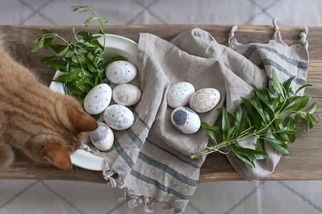 Taitavimmat maalarit voivat koristella munansa vaikka näin. Kuva: arkisto.