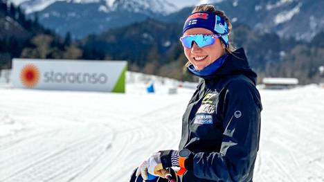 Oberstdorfissa oli lämmintä Katri Lylynperän valmistautuessa MM-hiihtoihin.