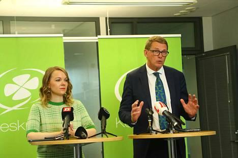 Katri Kulmuni kertoi maanantaina Matti Vanhasen valinnasta seuraajakseen valtiovarainministerinä.