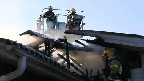 Vuonna 2018 Satakunnassa syttyi 292 rakennuspaloa. Kuva on Raumalta.