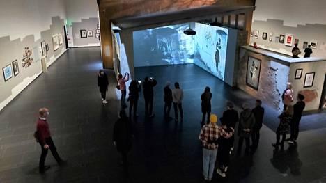 Katutaiteilija Banksyn näyttelyssä Serlachius-museo Göstassa kävi viidessä kuukaudessa ennätykselliset 120000 kävijää.