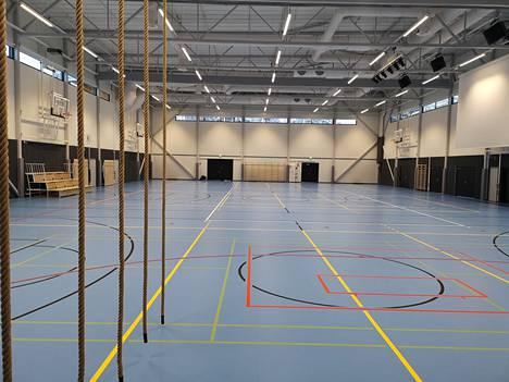 Vareliuksen liikuntahalli valmistui tammikuussa 2021.