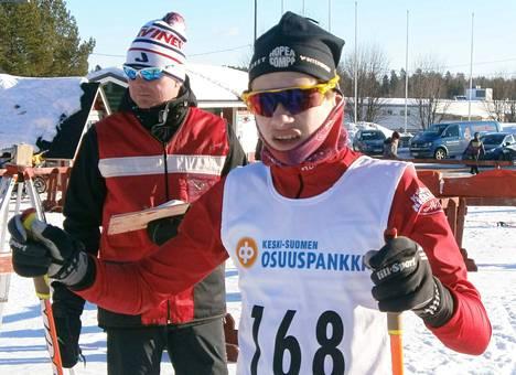 Kisailijoiden Onni Mäkelä osallistui Rukalla M18-sarjan PM-tarkkailukilpailuun. Arkistokuva.