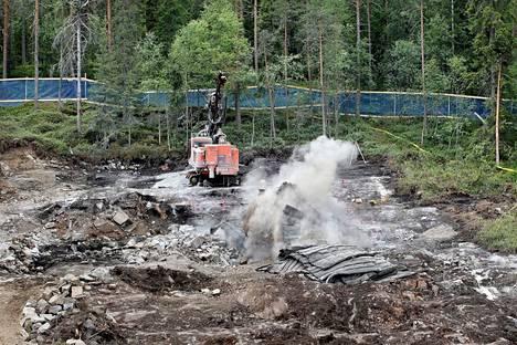 Kuvituskuva. Jämsänkoskella Myllymäessä on tehty tällä viikolla räjäytystöitä, joista aiheutuvat pamaukset ovat kuuluneet kauas.