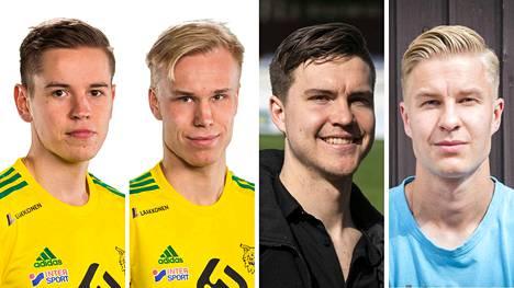 Ilveksen Ilari Mettälä (vas.) ja Eemeli Raittinen sekä Hakan Jacob Bushue ja Salomo Ojala ratkaisevat Pirkanmaan herruuden.
