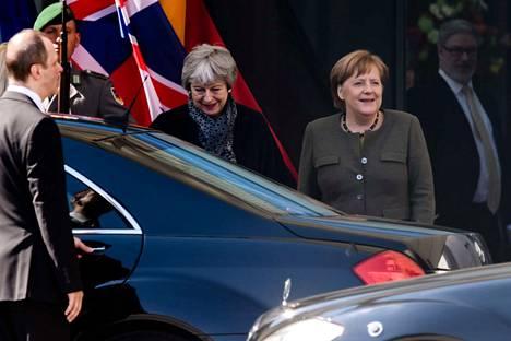 Britannian pääministeri Theresa May tapasi eilen tiistaina Saksan liittokansleri Angela Merkelin.