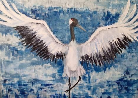 Isot linnut ja eritoten kurjet ovat aina kiehtoneet Jaana Palosta. Kurjen soidinmenot ovat unohtumaton näky.