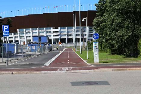 Tältä näyttää uusittu Olympiastadion Helsingissä ulkoa.