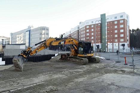 Sarvijaakonkatu 3:een rakennettavan Jallukka-kerrostalon rakennustyöt alkoivat viime viikolla.