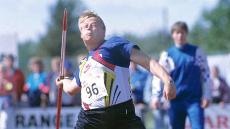 Seppo Räty Punkalaitumella 2. kesäkuuta 1991.