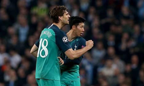 Fernando Llorente ja Heung-Min Son nousivat Tottenhamin sankareiksi.
