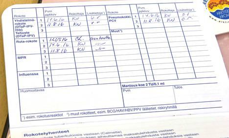 Suomessa ei toistaiseksi ole rokoterekisteriä, vaan omien rokotusten pitäisi löytyä rokotuskortista.