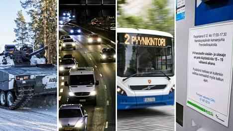 Itsenäisyyspäivän juhlinta vaikuttaa liikennejärjestelyihin jo torstaina.