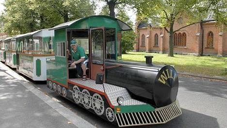 Kaupunkijuna tässä kuvassa Tampereella.