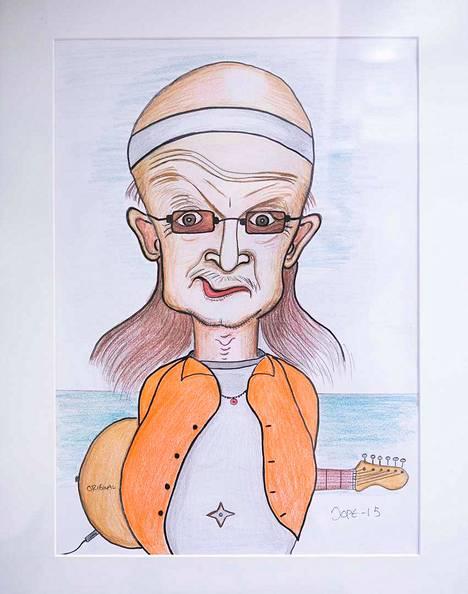 Jope Ruonansuun karikatyyri Juicesta.