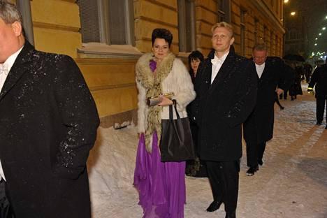 Mariankadun puolella sijaitseva sisäänkäynti on tullut Marko ja Mari Asellille vuosien aikana tutuksi. Kuva vuodelta 2011.