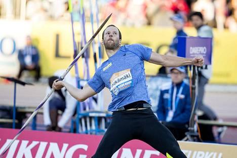 Tero Pitkämäki loukkaantui viime kesänä Paavo Nurmen kisoissa.