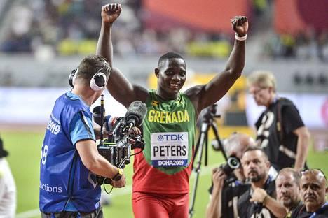 Grenadan Anderson Peters oli Tero Järvenpään mukaan keihäsfinaalin nuorin ja tuorein.