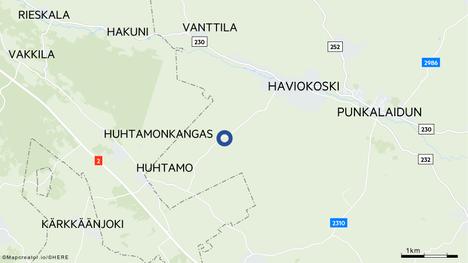 Traktorimönkijä suistui ojaan Parpontiellä Punkalaitumella.