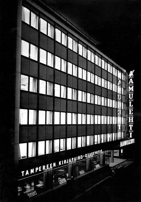 Aamulehden Kuninkaankadun toimitalo valmistui vuonna 1962.