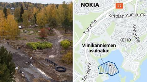 Viinikanniemen alueen infra valmistuu vuoden loppuun mennessä. Freelance valokuvaaja Jari Toivonen kuvasi alueen ilmasta syyskuun viimeisellä viikolla.