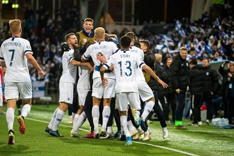 Suomi varmisti EM-kisapaikkansa, kun se voitti Liechtensteinin marraskuussa 2019.