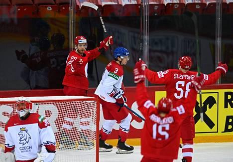 Venäjä kaatoi Tshekin yhdellä maalilla.