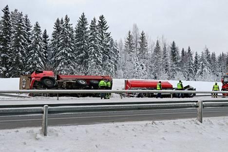 Liikennehaittaa oli muutaman tunnin ajan Porin suuntaan.