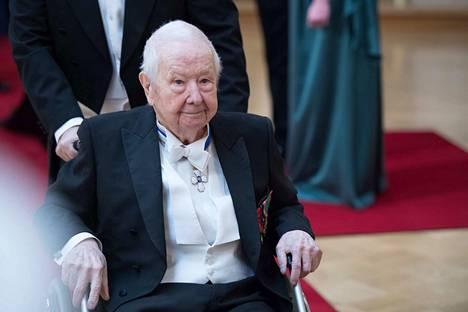Lasse Pöystin nähtiin presidentin itsenäisyyspäivän vastaanotolla vielä vuonna 2017.