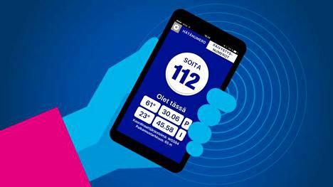 Pelastusalan järjestöt suosittelevat asentamaan puhelimeen 112-sovelluksen, mikä nopeuttaa avunsaantia tarkan paikannuksen ansiosta.