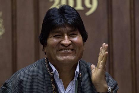 Bolivian presidentti Evo Morales pakeni marraskuussa Meksikoon.