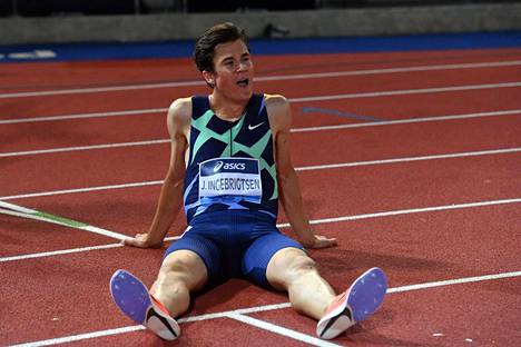 Jakob Ingebrigtsen juoksi ensi kertaa 5 000 metriä alle 13 minuutin ja teki heti Euroopan ennätyksen.