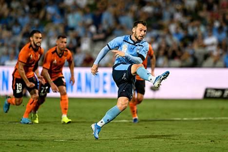 Adam Le Fondre johtaa Australian A-liigan maalitekijätilastoa.