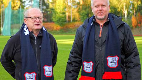 KeuPan puheenjohtajalla Tapani Paasulla ja päävalmentaja Kari Koskisella oli hymy herkässä sarjanousun jälkeen.