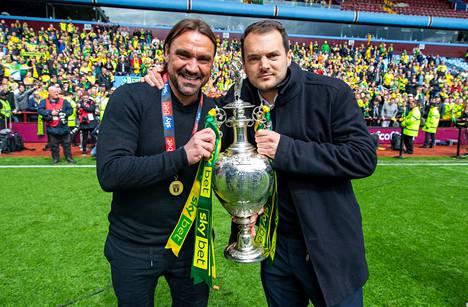 Daniel Farken ja Stuart Webberin (oik.) tandemi Norwich Cityssä on ollut toistaiseksi sensaatiomaisen menestyksekäs.