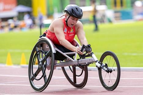 Ennen Japaniin lähtöä Kotaja hioi kisakuntoaan Jyväskylässä pidetyissä parayleisurheilun SM-kisoissa.