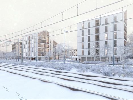 """Ideakilpailun voitti Aleksi Kraaman ja Eero Kuokkasen ehdotus """"Lumipuu""""."""