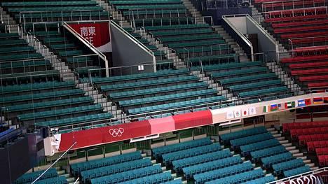 Tokion olympialaiset kilpaillaan tiukkojen koronarajoitusten alla. Esimerkiksi katsomoihin ei päästetä yleisöä.
